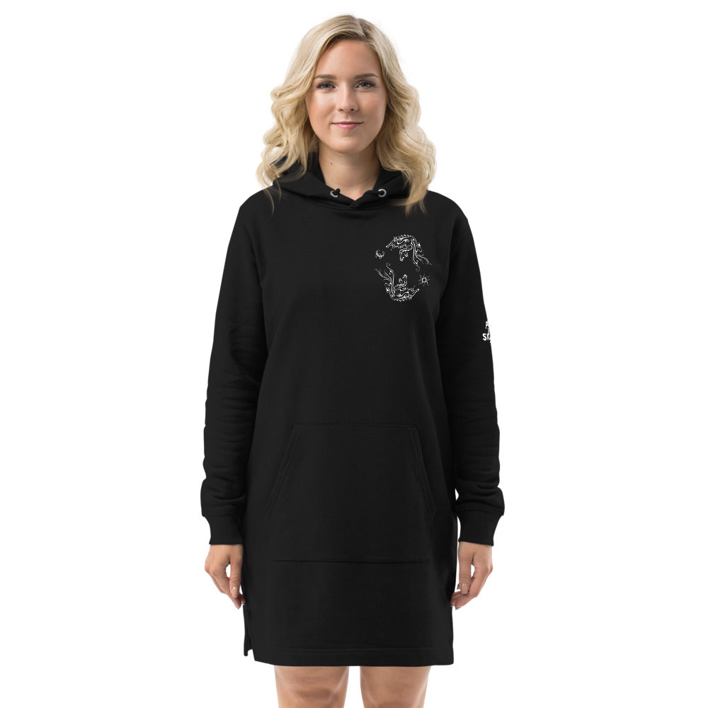 Hati and Sköll Hoodie dress - Eco Friendly