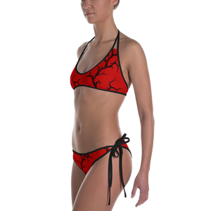 Red Huginn and Muninn Bikini - up to size 20-22 (3XL)