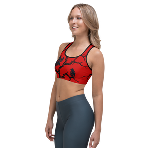 Red Huginn and Muninn Sports bra - up to size 18