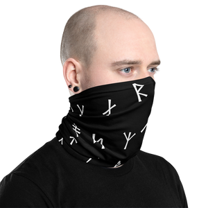 Younger Futhark Runic Black Neck Gaiter