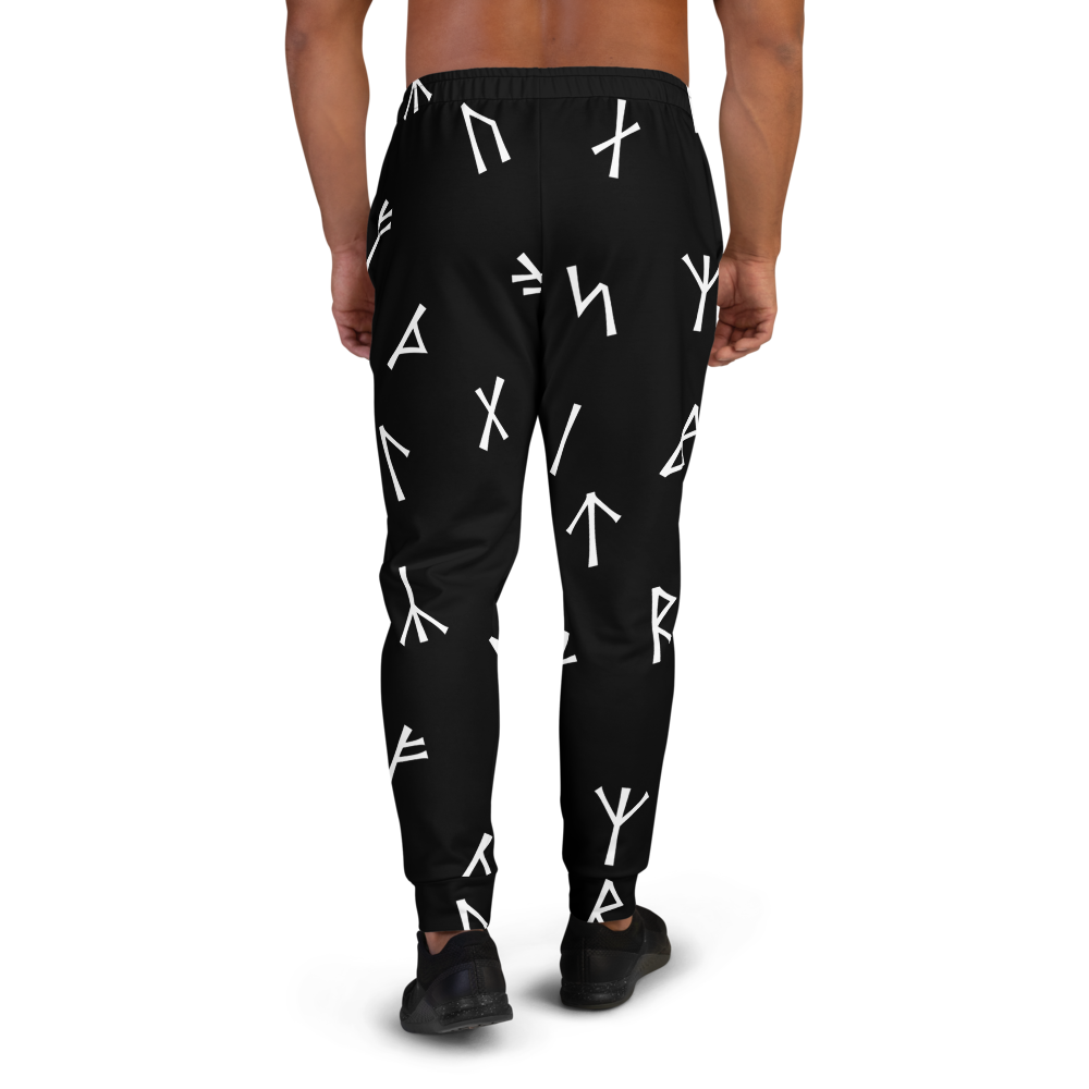 Black Younger Futhark Runic Joggers