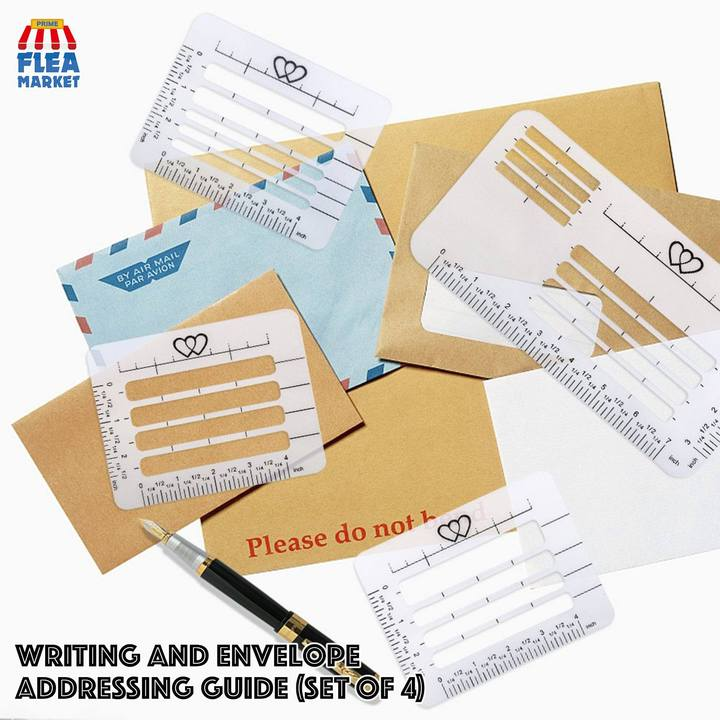 Writing And Envelope Addressing Guide (Set of 4)