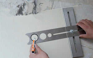 Adjustable Drilling Locator Ruler