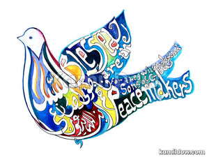 The Peacemakers – Arabic Calligraphy Art by Kamil Dow