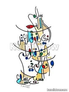 The Peace of God – Arabic Calligraphy Art by Kamil Dow