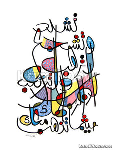 Be Strong and of a Good Courage – Arabic Calligraphy Art by Kamil Dow