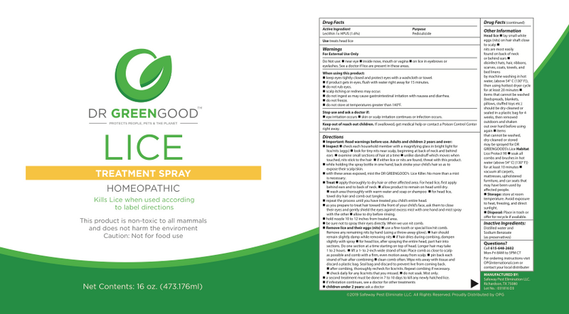 DR GREENGOOD™ | Lice | Treatment Spray | 16 oz.
