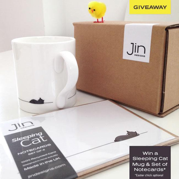 Giveaway: Sleeping Cat Mug and Notecards