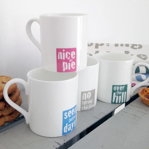 New: Vintage Sayings Mugs Now Available