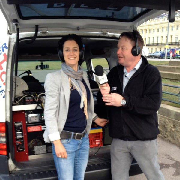 Live BBC Interview for Jinny in Hove Actually