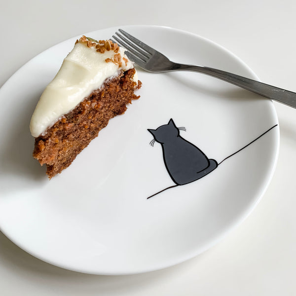 Carrot Cake on China Cat Plate