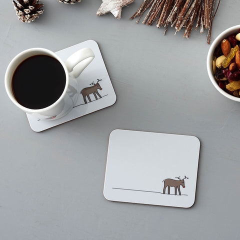 Reindeer Coasters, Set of Two