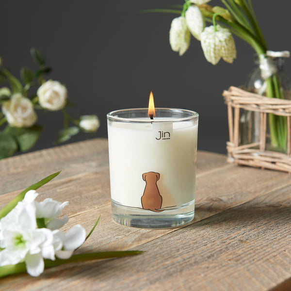 Sitting Dog Scented Candle