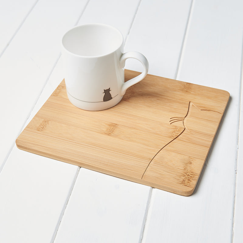 Sitting Cat Mug and Serving Board