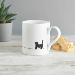 Standing Cat Mug with Shortbread