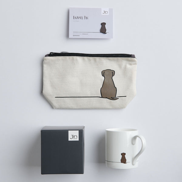 Dog Lover Gift Bundle with mug, zip bag and pin