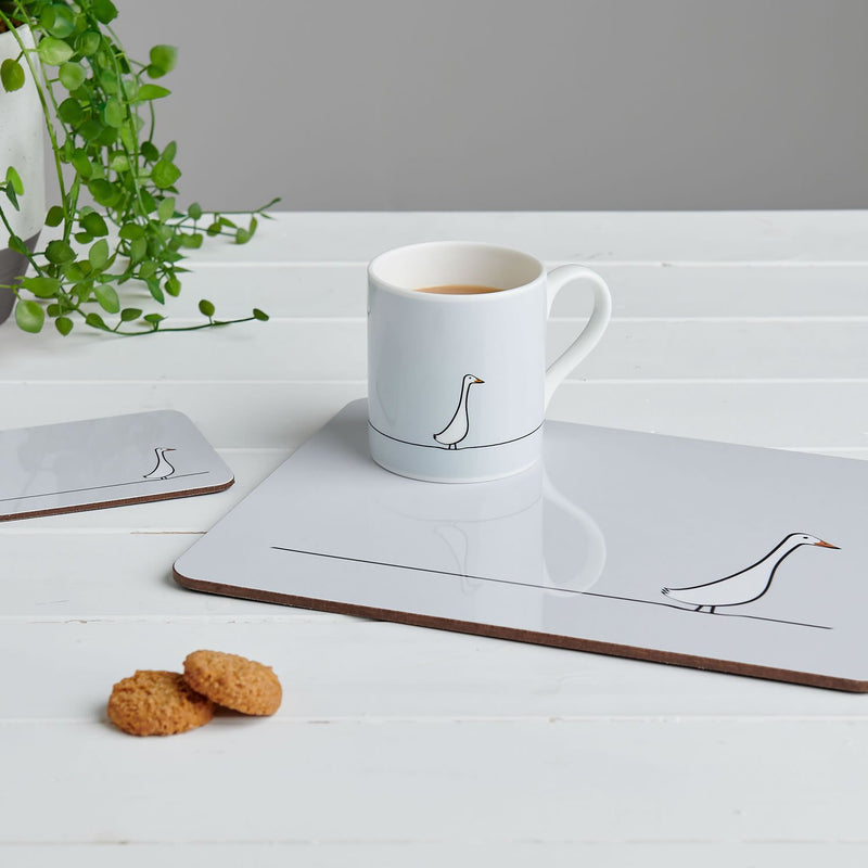 The Duck Collection including mug, placemats and coasters