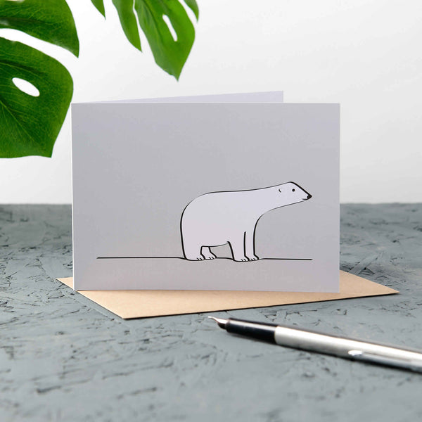 Polar Bear Cards, Pack of Four