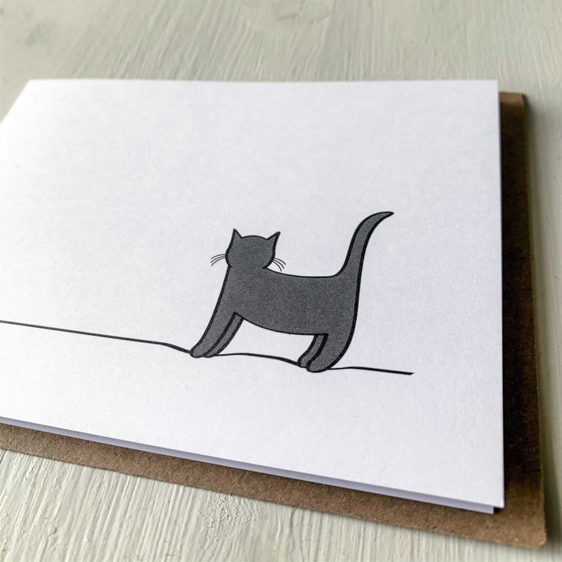 Standing Cat Card, Close up
