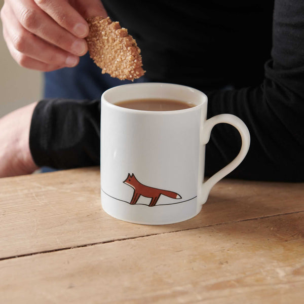 Fox Mug with biscuit