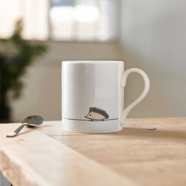 Hedgehog Mug on table