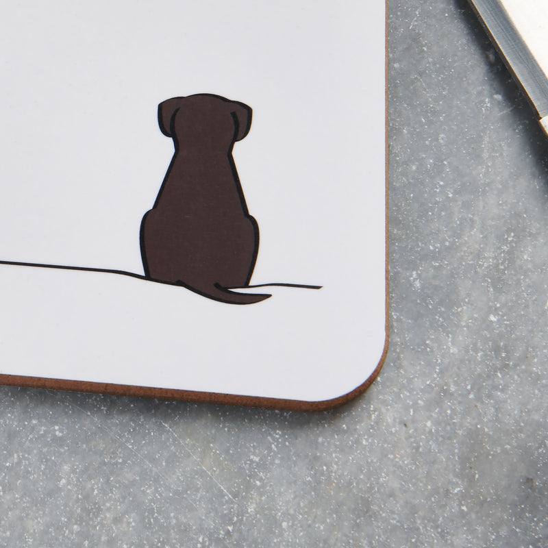 Sitting Dog Mini Chopping Board Close Up