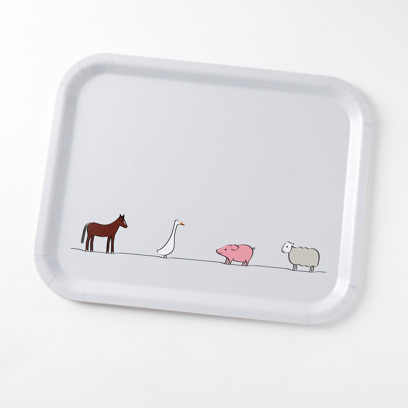 Farm Collection Birch Wood Tray
