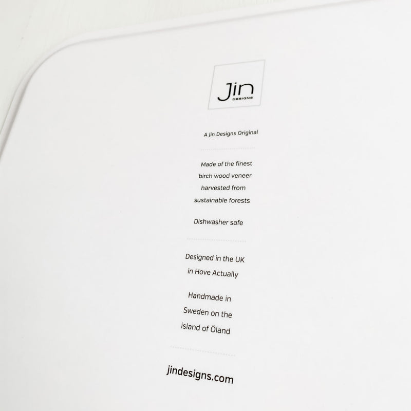 Reverse of Jin Designs Birch Wood Tray
