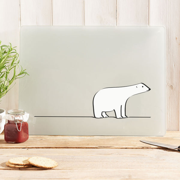 Polar Bear Glass Worktop Saver