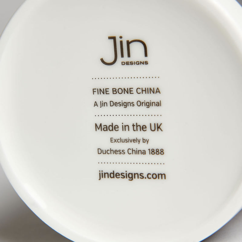 Authentic Backstamp on Jin Designs Large Mug