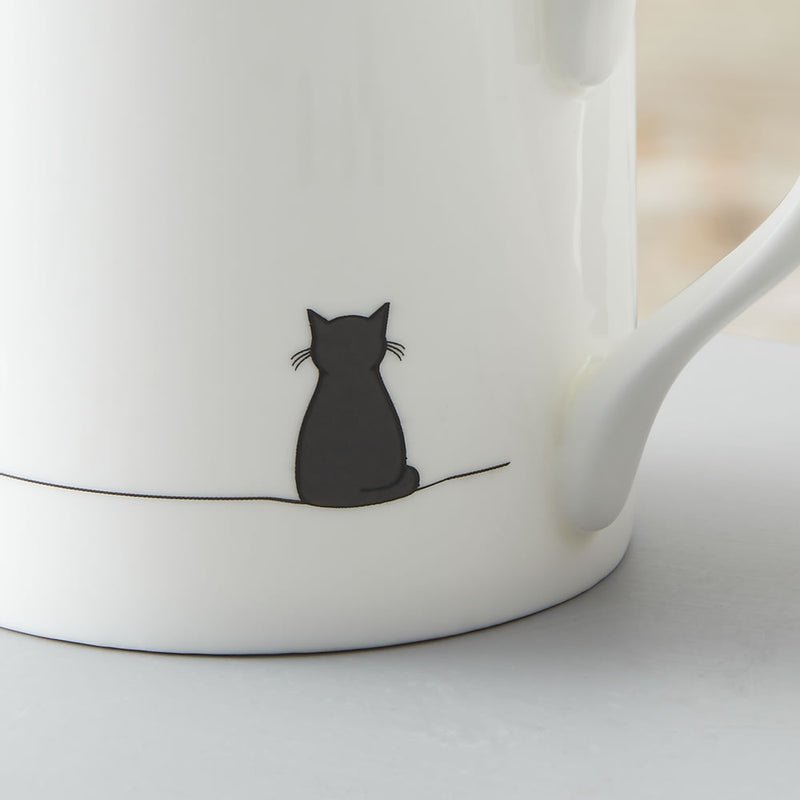 Sitting Cat and Sitting Dog Mug, Set of 2