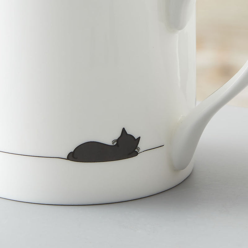 Sleeping Cat Mug Close Up