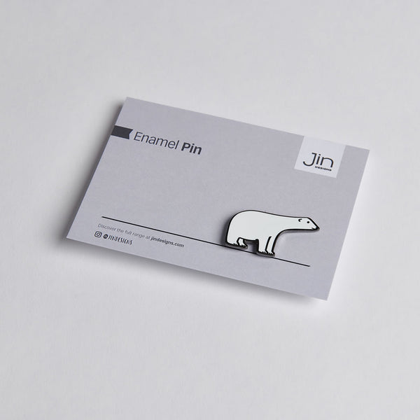 Polar Bear Enamel Pin with backing card