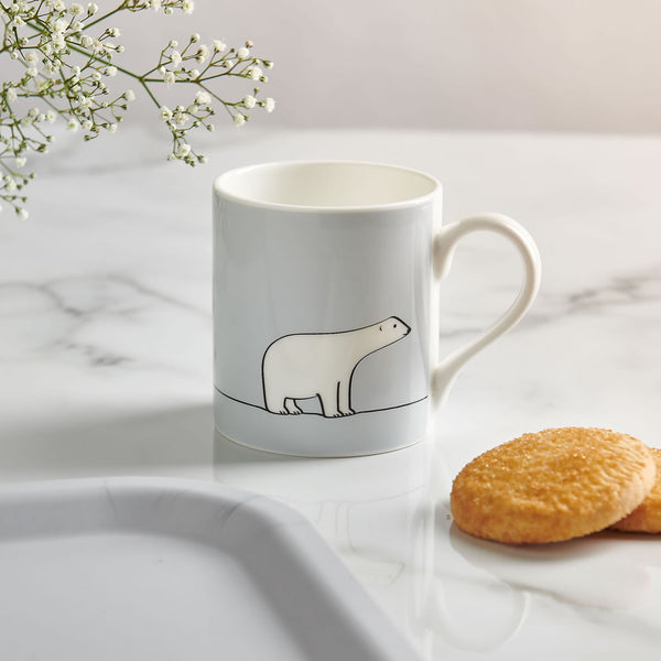 Polar Bear Mug with Biscuits