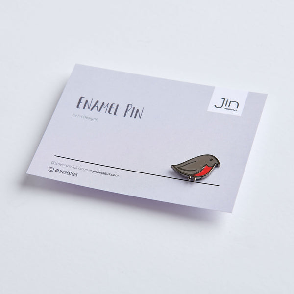 Robin Enamel Pin with Backing Card