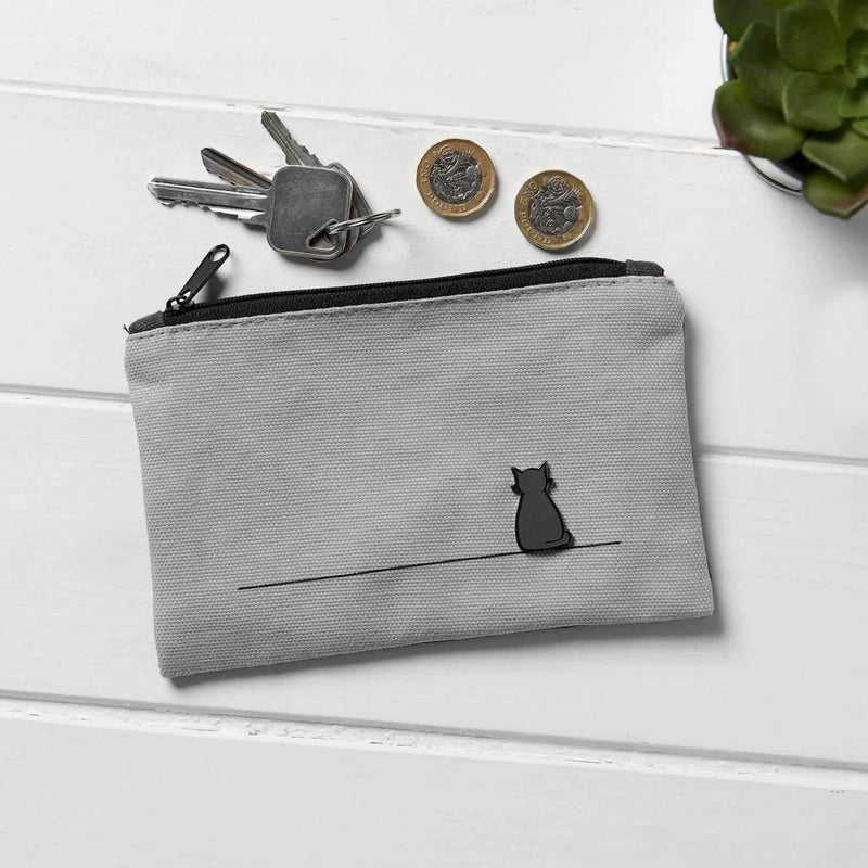 Sitting Cat Canvas Purse