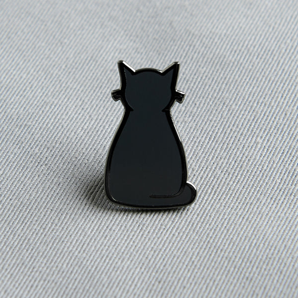 Sitting Cat Enamel Pin
