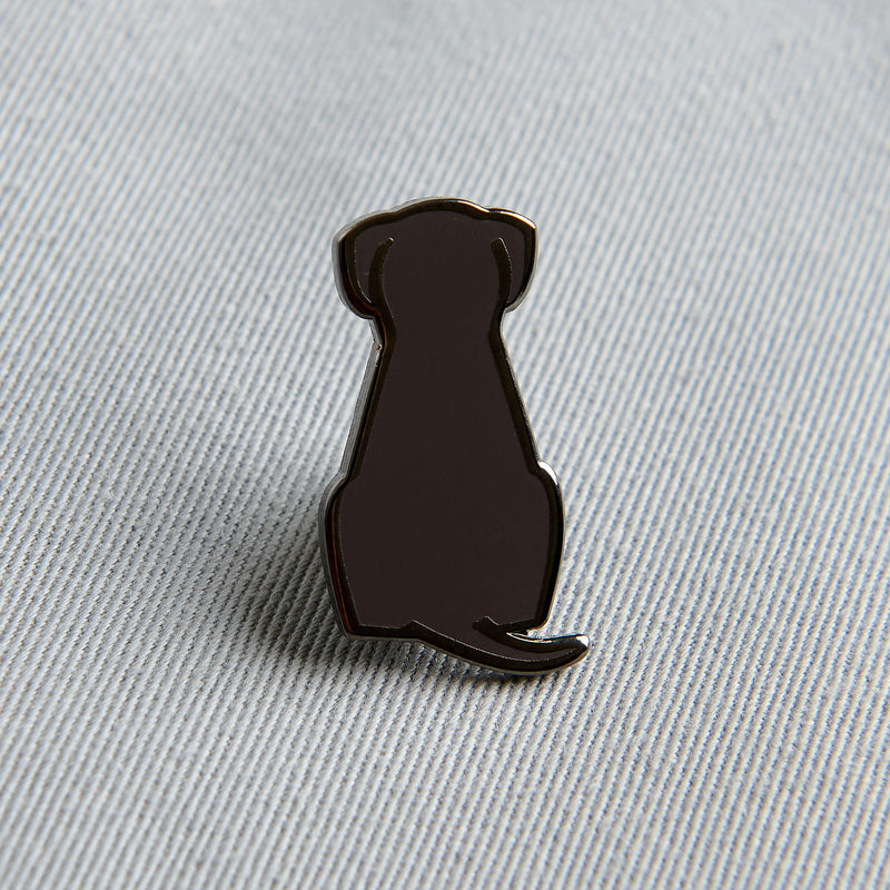 Sitting Dog Enamel Pin