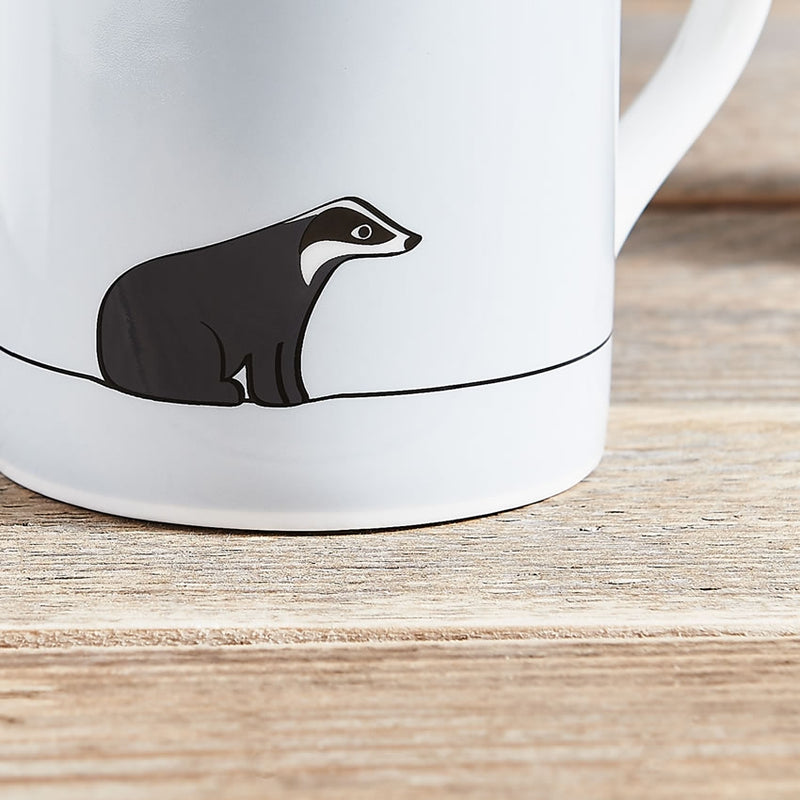 Badger Mug, Fine Bone China, Badger Gifts