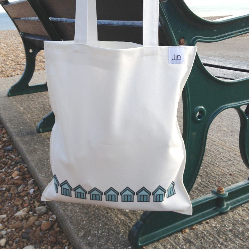 Beach Huts Bag on Bench