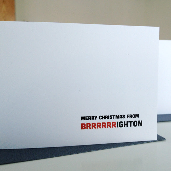 Brighton Christmas Card Close-up