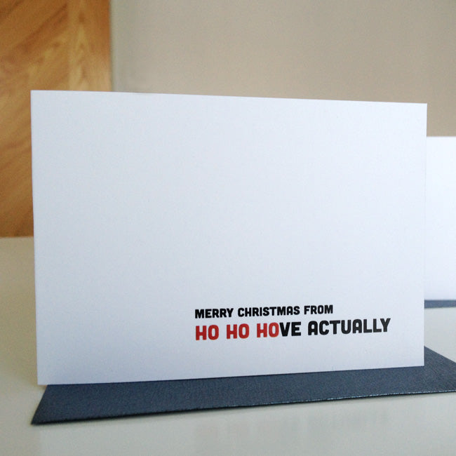 Ho Ho Hove Actually Christmas Card