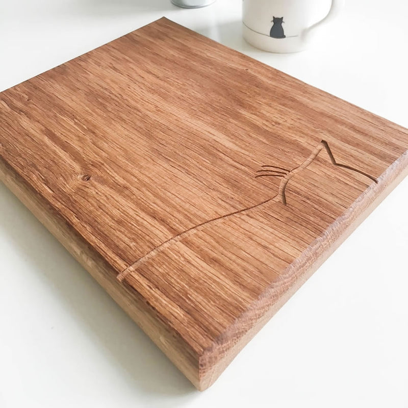 Sitting Cat Chopping Board