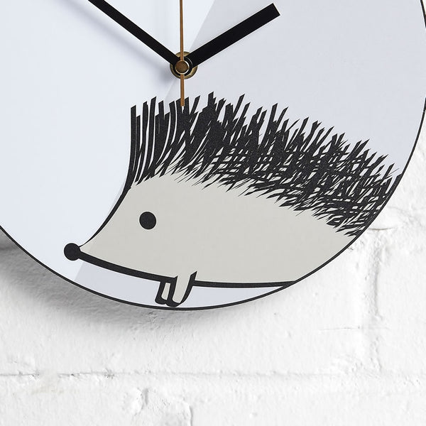 Hedghog Wall Clock Closeup