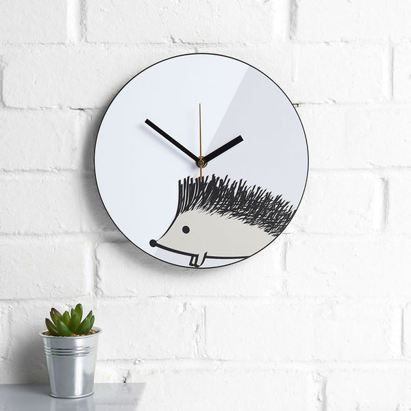 Hedghog Wall Clock on a kitchen wall