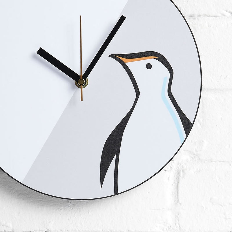 Penguin Wall Clock closeup