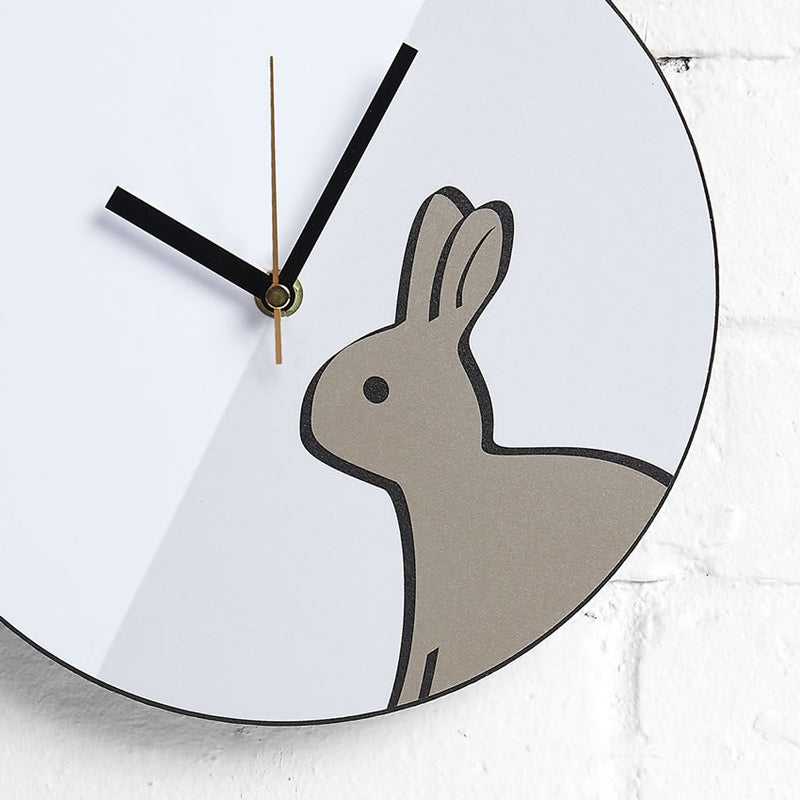 Rabbit Wall Clock close up