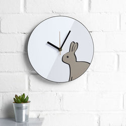 Rabbit Wall Clock with Plant in the Kitchen
