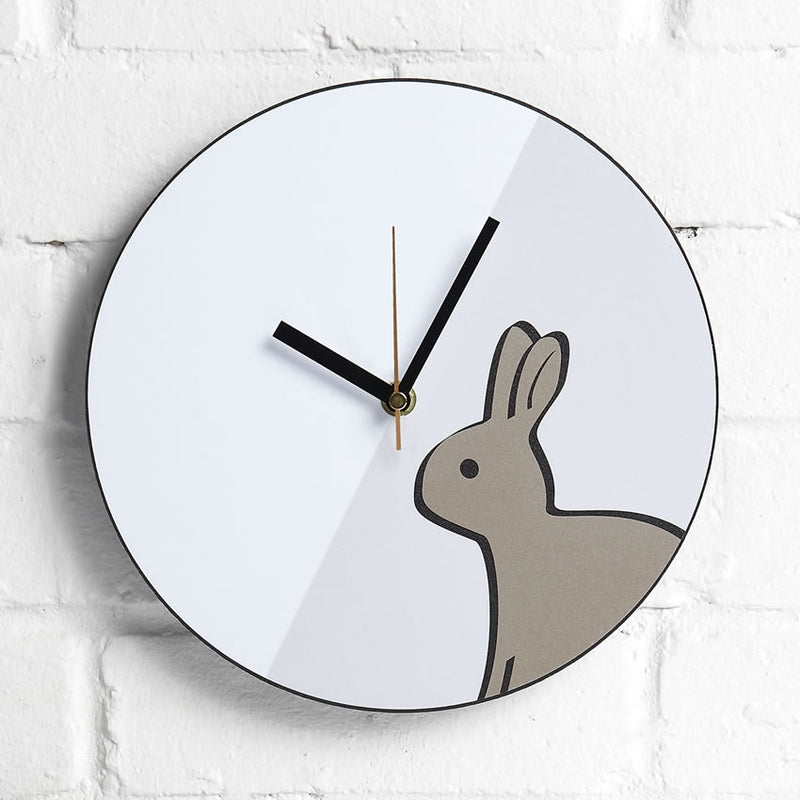 Rabbit Wall Clock on Interior Wall