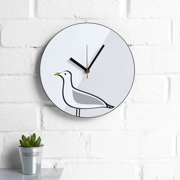 Seagull Wall Clock on an Interior Wall